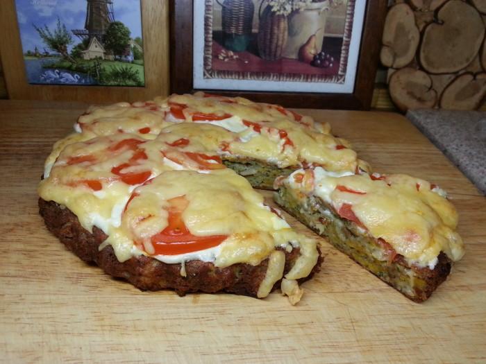 Пирог с курицей и тыквой.(1)