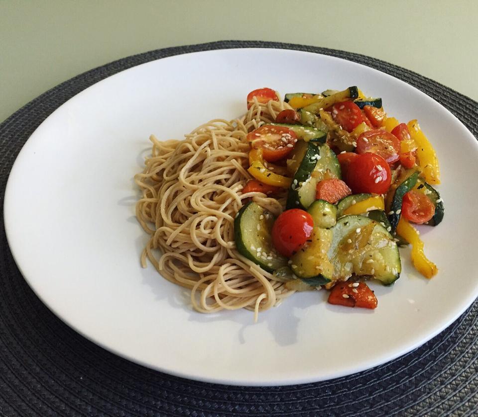 Рецепт пасты с овощами