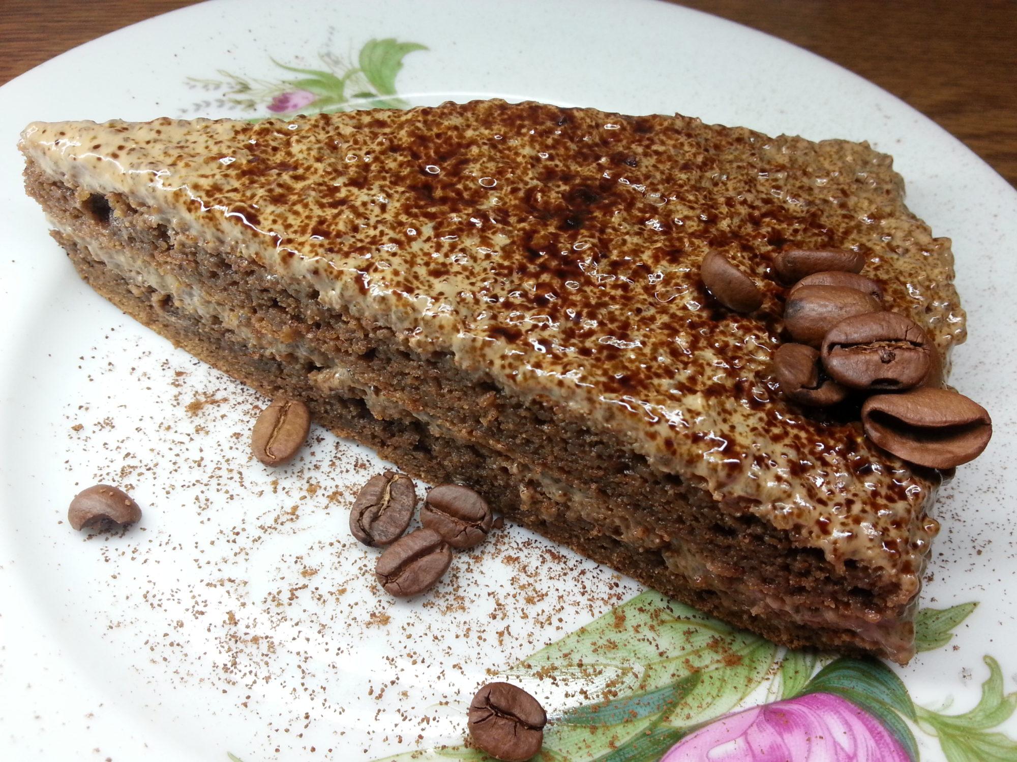 Кофейный тортик с чиа