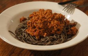 LCHF-спагетти болоньезе