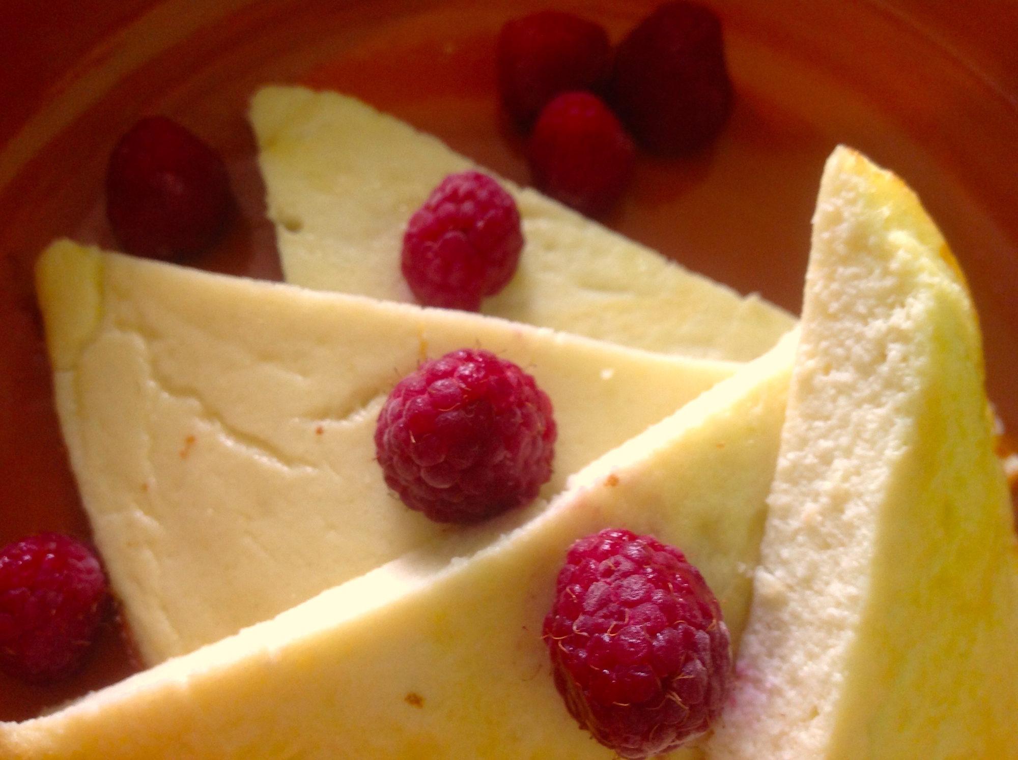 Кокосовый омлет с сыром рикотта.