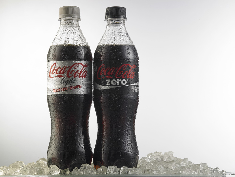 Kuala Lumpur-Malaysia : March 23,2015 Photo of bottle of Coca-Cola Light and Zero. The brand is one of the most popular soda products in the world and it is sold almost everywhere