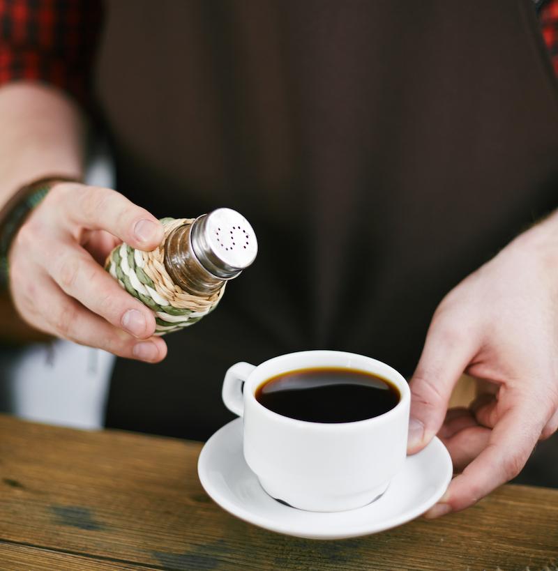 Adding salt in coffee