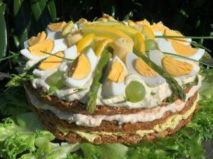 Пасхальный бутербродный торт