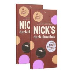Тёмный шоколад NICK'S со стевией 20 шт