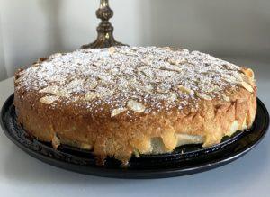 Миндальный пирог с грушей